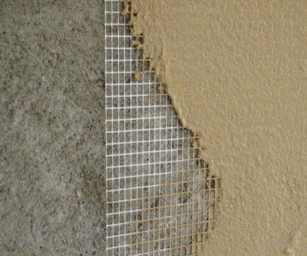 Ремонт стены: штукатурка на сетке